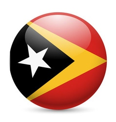 Round glossy icon of east timor vector image vector image