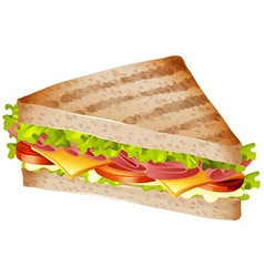 Sandwich with ham and cheese vector image