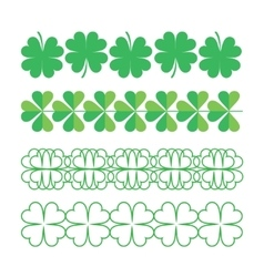 Set of clover ornaments vector image vector image