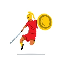 Spartan Warrior Cartoon vector image vector image