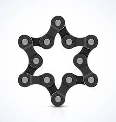 Star of david made of chain vector
