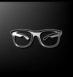 Sunglasses sign gray 3d vector