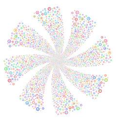 Time fireworks swirl flower vector