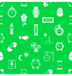 Time theme modern simple icons seamless green vector