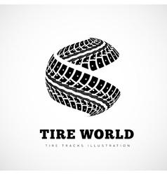 Tire track brand vector