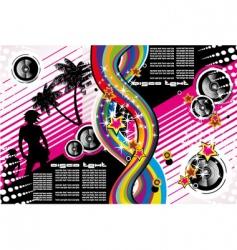 Tropical dance music flyer vector