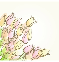 tulips abstract background vector image vector image