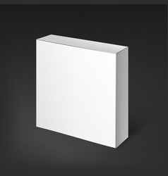 White realistic box mockup template vector
