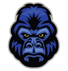 mascot of gorilla head vector image