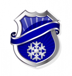 frame with snowflake vector image