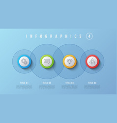 4 options infographic design presentation vector image