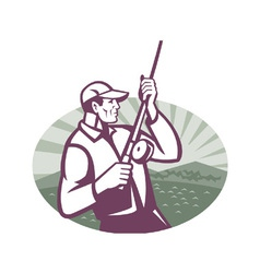 fly fisherman vector image