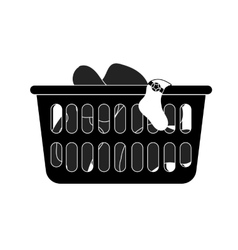 loundry basket vector image