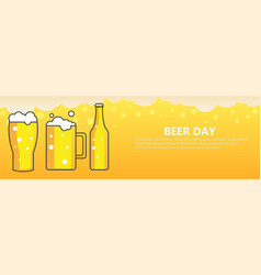 beer day banner background vector image