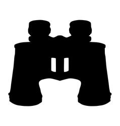 binoculars silhouette vector image