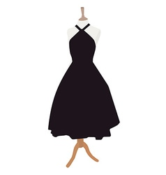 Black dress vector