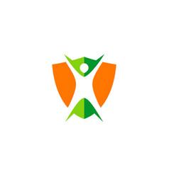 Body protection shield logo vector