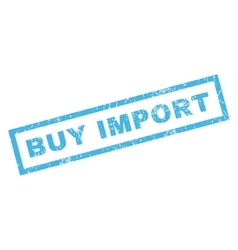 Buy import rubber stamp vector