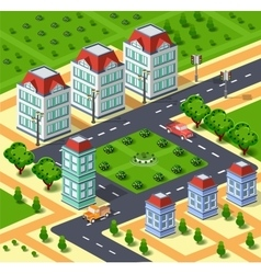 City with urban infrastructure vector