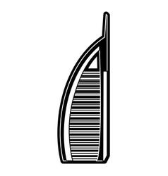 dubai skyscraper tower vector image