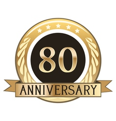 Eighty Year Anniversary Badge vector image vector image