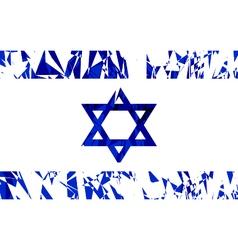 Flag of israel vector