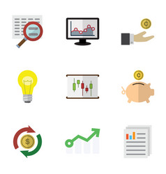 Flat icon incoming set of document interchange vector
