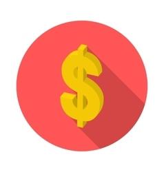 flat isometric icon dollar vector image vector image