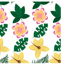 Flowers natural decoration exotic seamless pattern vector