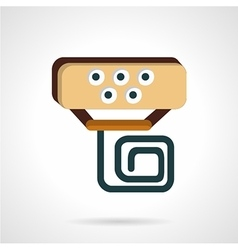 Handlebar device flat icon vector image vector image