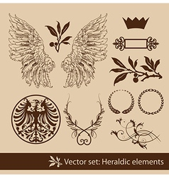 Heraldy elements vector