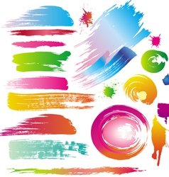 Ink and paint splatters vector