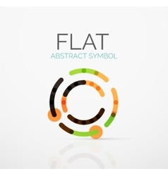 Logo - abstract minimalistic linear flat design vector