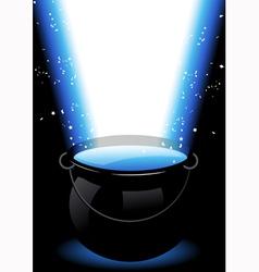 Magic cauldron vector