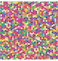 Multicoloured hex tiles Mosaic Eps 10 vector image