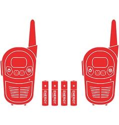 Portable radio set vector