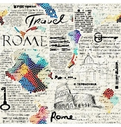 Rome newspaper background vector