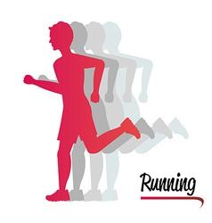 Running design vector image