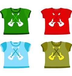 Set of Childrens shirts vector image vector image