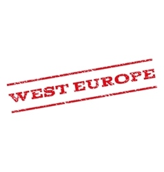 West europe watermark stamp vector