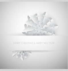 white paper christmas snowflake vector image vector image
