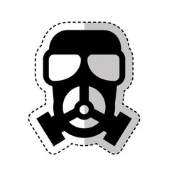 nuclear mask isolated icon vector image