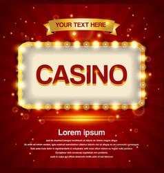 retro light sign casino signage vintage style vector image