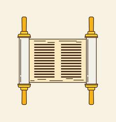 torah flat design vector image