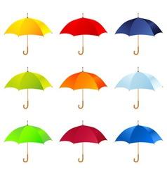 Set of umbrellas vector image