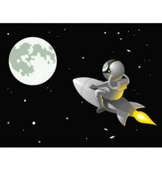 astronaut to the moon vector image