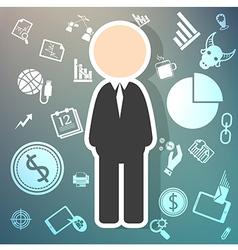salary icons theme on Retina background vector image