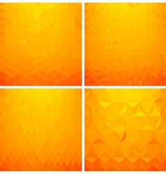 Abstract geometric background set vector