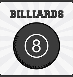 Billiards sport vector