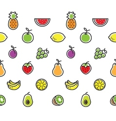 Fruits seamless background texture vector